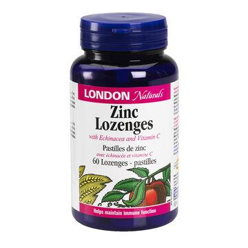 London Naturals Zinc, Echinacea & Vitamin C Lozenges - 60's