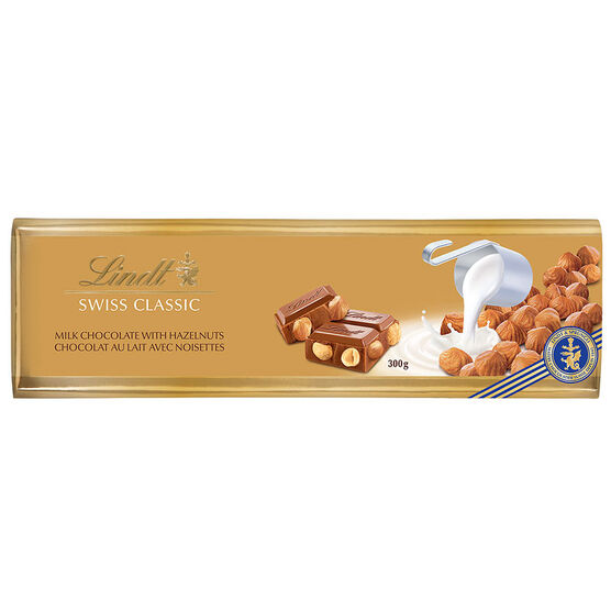 Lindt Gold Chocolate Bar - Hazelnut - 300g