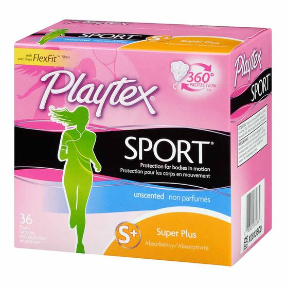 Playtex Sport Tampons - Super Plus - 36's / Unscented