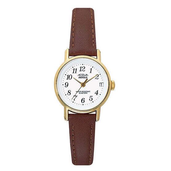 Timex Acqua Analogue Watch - Brown/Gold - 63021