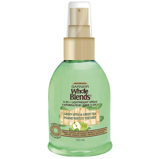 Garnier Whole Blends 5 in 1 Light Weight Spray - Green Apple & Green Tea - 150ml
