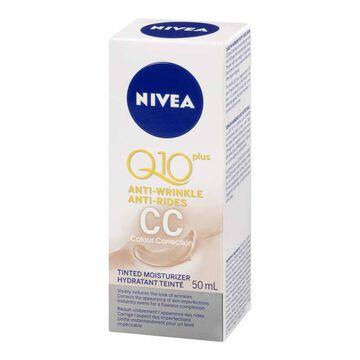 Nivea Q10 Plus Anti-Wrinkle Colour Correction Tinted Face Moisturizer - 50ml