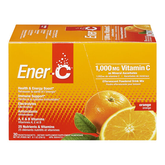 Ener-C Vitamin C Powered Drink Mix - 1000mg - Orange - 30's