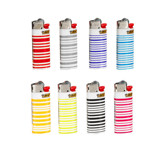 Bic Mini Stripes Lighter - Single - Assorted