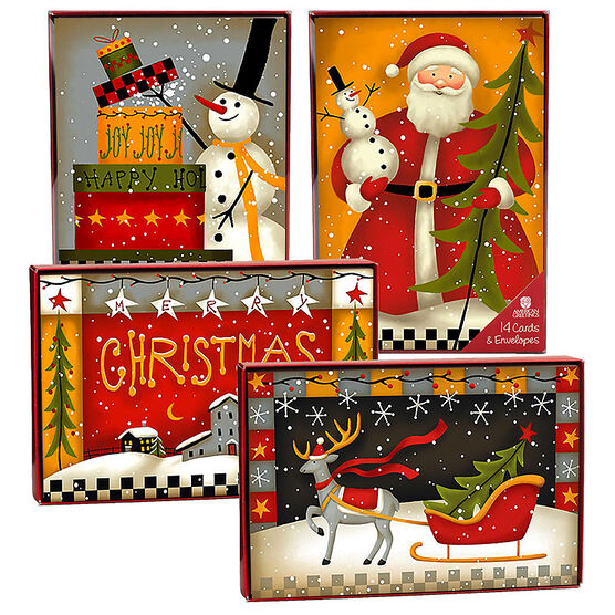 American Greetings Christmas Cards - Folklore - 14 count - Assorted