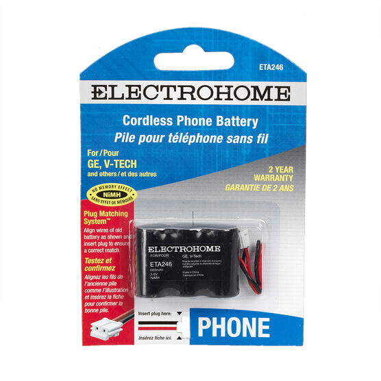 Electrohome ETA246 phone battery