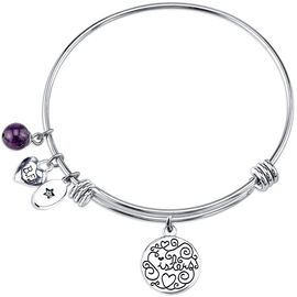 UNWRITTEN Stainless Steel Best Friends Forever Expandable Bangle