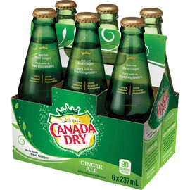 Canada Dry Ginger Ale- 6x237ml