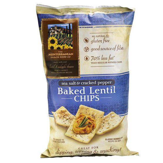 Mediterranean Snack Food Co. Baked Lentil Chips - Sea Salt & Cracked Pepper - 128g