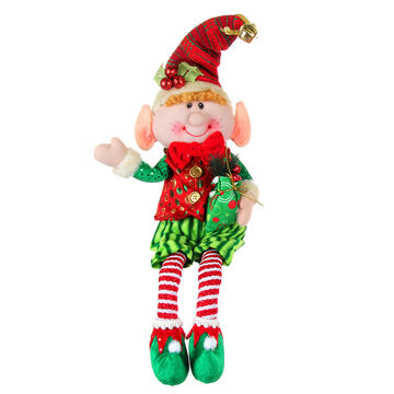 Winter Wishes Sitting Jingle Bell Elf - 21 inch