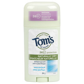 Tom's of Maine Antiperspirant - Unscented - 64g
