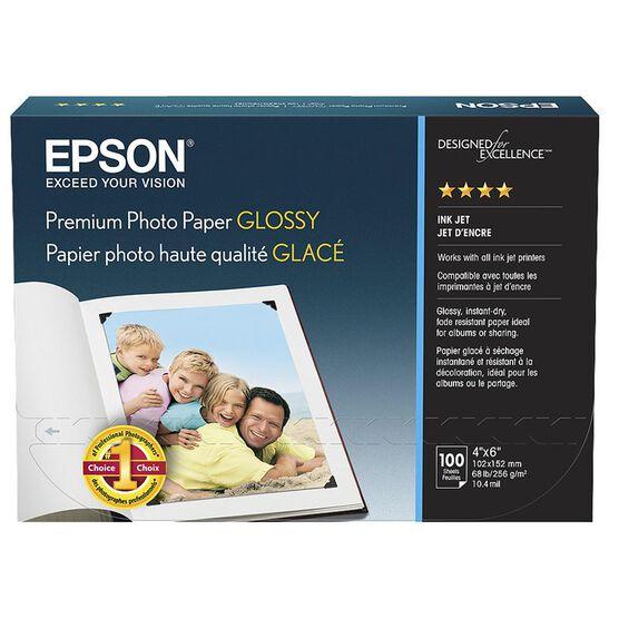 Epson Premium Glossy Photo Paper - 4 x 6inch Borderless - 100 Sheets - S041727