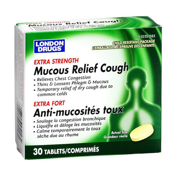 London Drugs Mucous Relief Cough - Extra Strength - 400mg / 30's