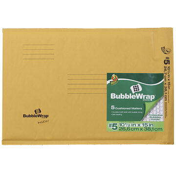 Duck #5 Kraft Mailer 5 Pack - 10.5 x 15 inch