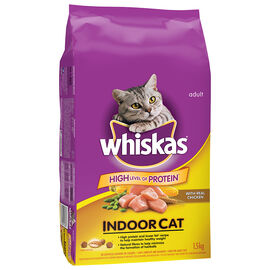 Whiskas Indoor Dry Cat Food - 1.5kg
