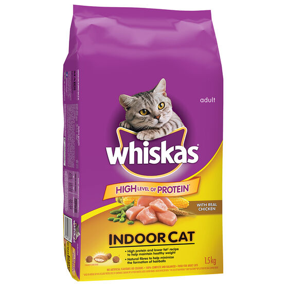 Whiskas Indoor Dry Cat Food - 1.5kg
