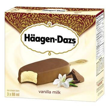 Haagen Dazs Take Home Ice Cream Bars - Vanilla Milk Chocolate - 3 x 88ml