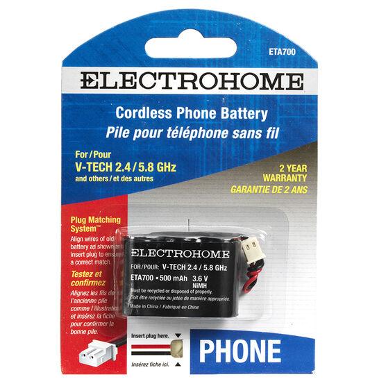 Electrohome Cordless Phone Battery - ETA700