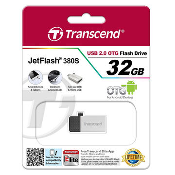 Transcend USB 2.0 OTG Flash Drive - 32GB - TS32GJF380