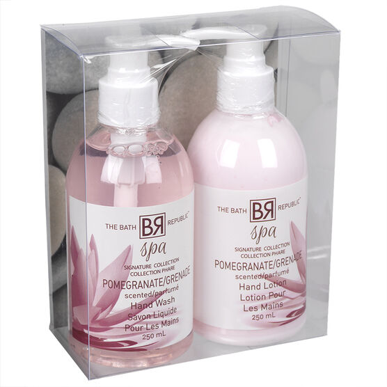 The Bath Republic Spa Caddy Bath Set - Pomegranate -2 piece