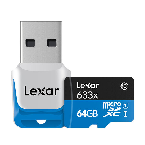 Lexar 633X Micro SDXC - 64GB - LSDMI64GBB1NL633