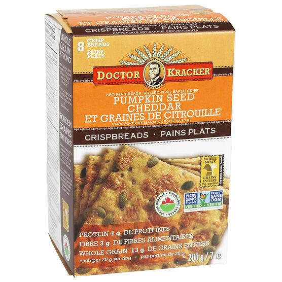 Doctor Kracker Organic & Artisan Baked Flatbread - Pumpkin Seed Cheddar - 200g