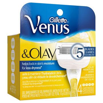 Gillette Venus and Olay Razor Blades - 4's