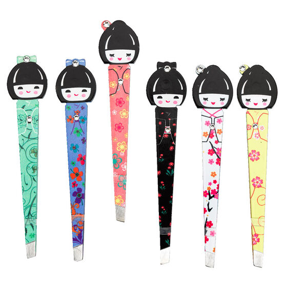 Crystal File Japanese Doll Tweezers - Assorted