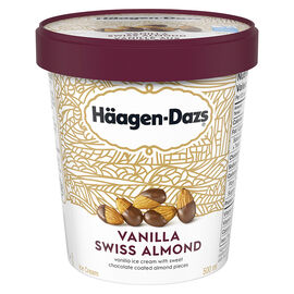 Haagen Dazs Vanilla Swiss Almond Ice Cream - 500ml
