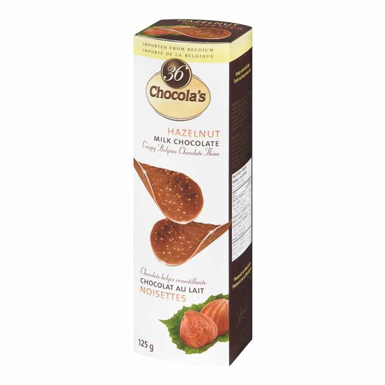 Chocola's Crispy Belgian Chocolate Thins - Hazelnut Milk Chocolate - 125g