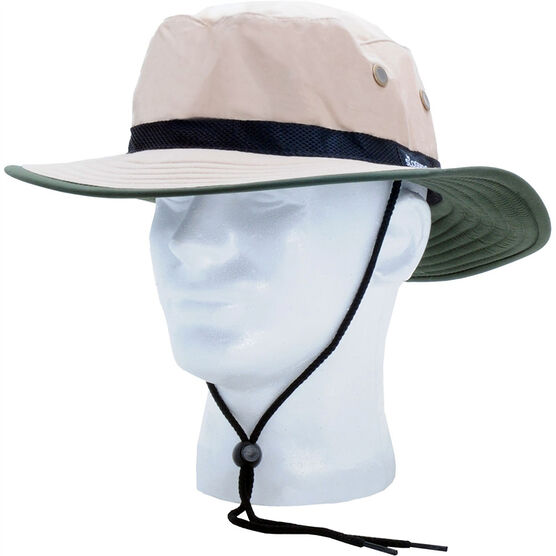 Sloggers Nylon Sun Hat - Tan/Green