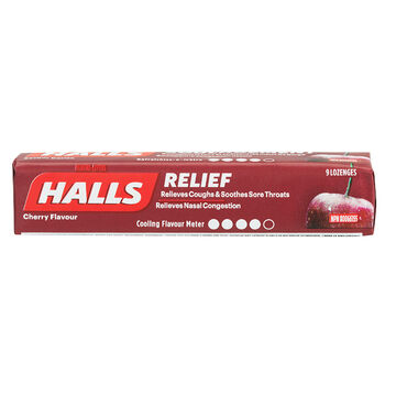 Halls - Cherry - 9 tablets