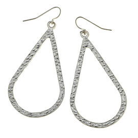 Canvas Teardrop Earrings - Silver
