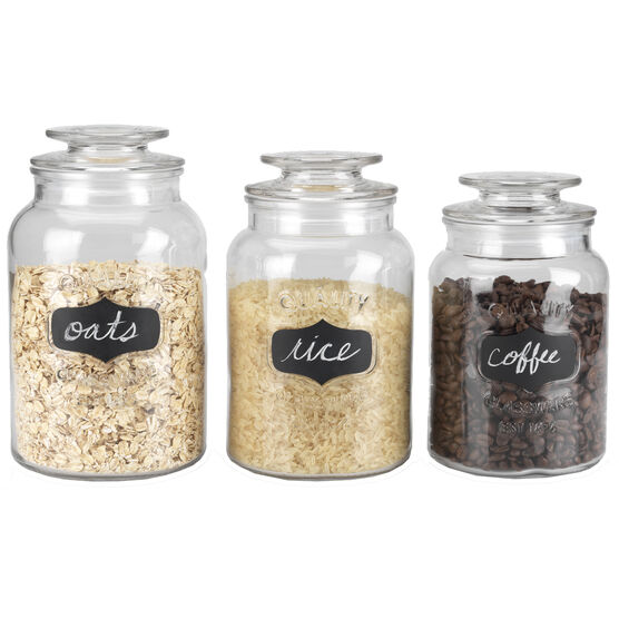 London Drugs Canisters with Black Board Labels - Set of 3