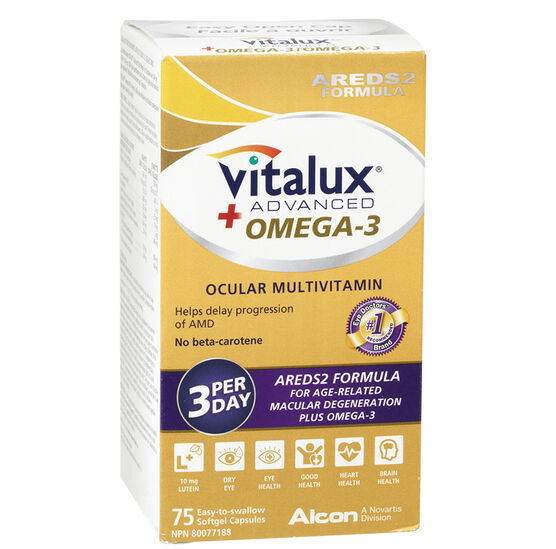 Vitalux Advanced + Omega 3 Ocular Multivitamin - 75's