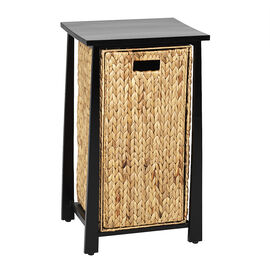 London Drugs Rubberwood Water Hyacinth Cabinet - Dark Brown