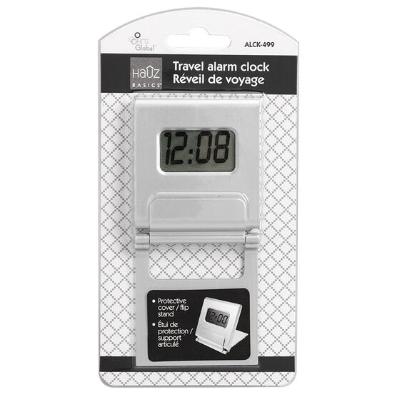 HRS Digital Travel Alarm Clock - Silver - ALCK499