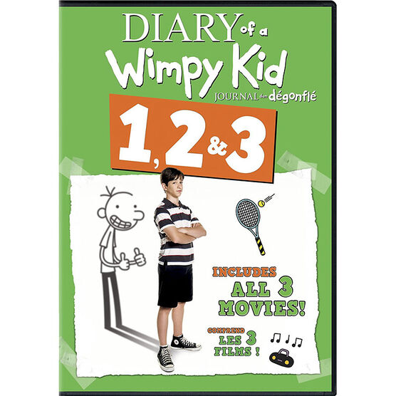 Diary of a Wimpy Kid 1-3 - DVD