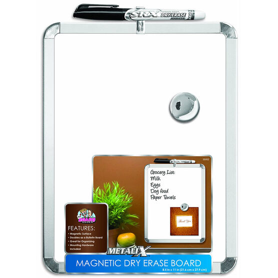 Board Dudes Magnetic Dry Erase Board - 8.5 x 11inch - Assorted