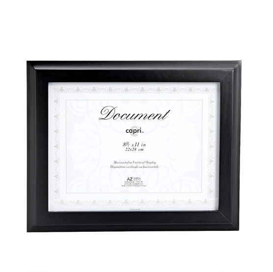 KG Oxford 8.5 x11 Document Frame - Black
