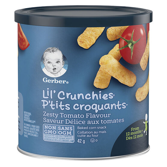 Gerber Graduates for Toddlers Lil' Crunchies - Zesty Tomato - 42g