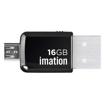 Imation 16GB 2in1 Micro USB 3.0 Flash Drive - Black