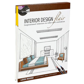 Spicebox Interior Design Flair Colouring Book