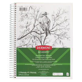 Derwent Academy Heavyweight Wire Sketchbook - 11x8.5""