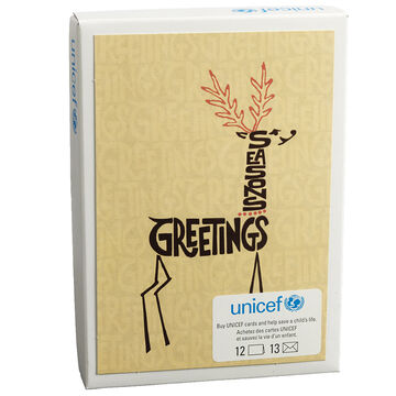 Unicef Christmas Cards - Letter Deer - 12 pack