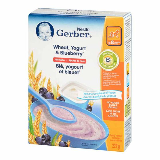 Nestle Baby Cereal - Wheat, Yogurt & Blueberry - 227g