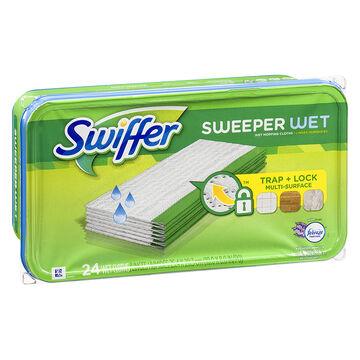 Swiffer Sweeper Wet Refills with Febreze - Lavender Vanilla & Comfort - 24's