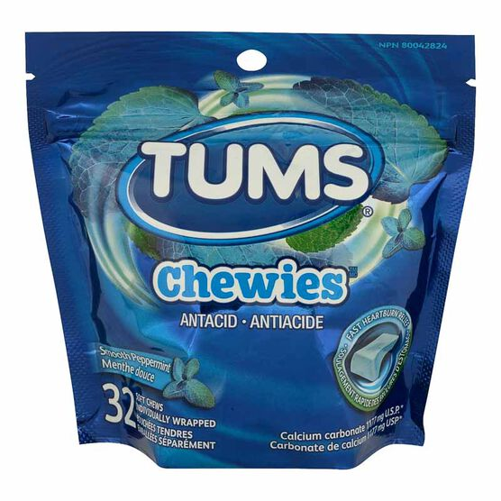 Tums Antacid Chewies - Smooth Peppermint - 32's