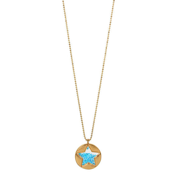 Betsey Johnson Confetti Shaky Star Pendant Necklace - Blue