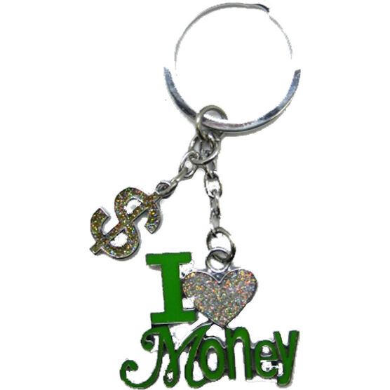 Valentine's I Love Money Key Tag